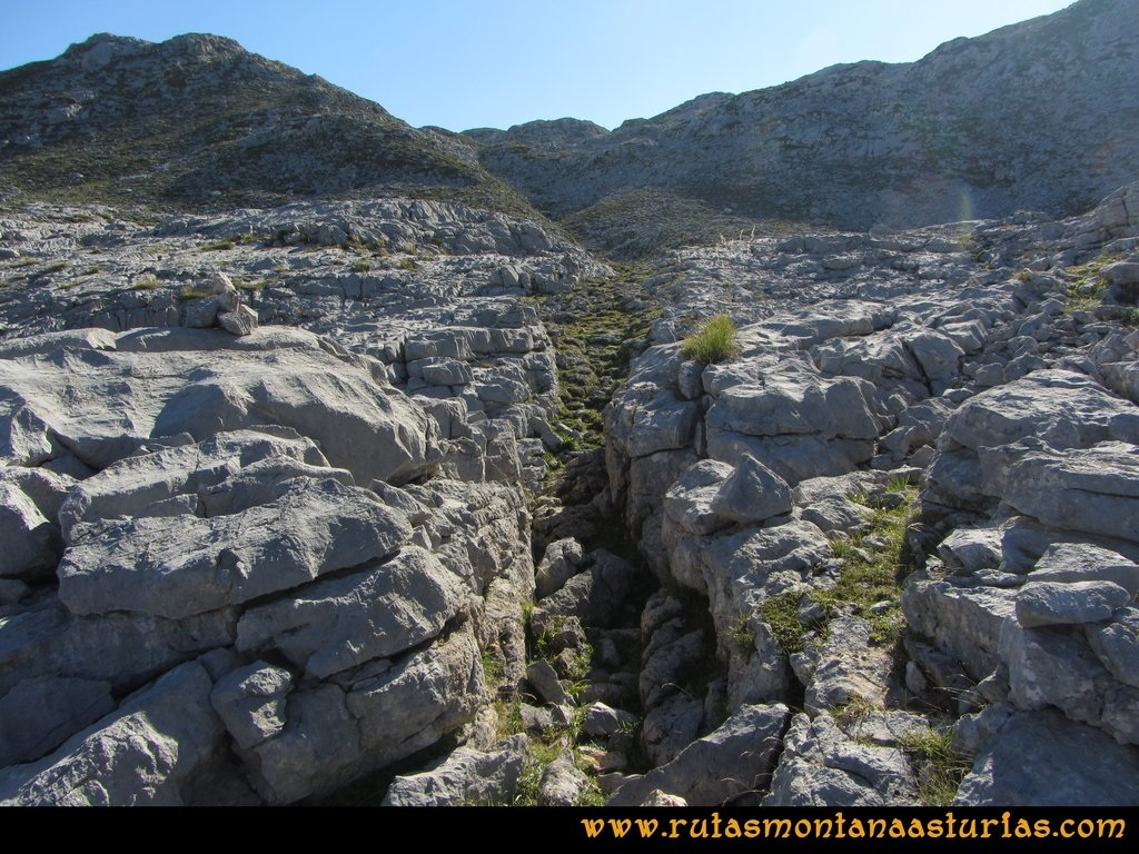 Ruta Ercina, Verdilluenga, Punta Gregoriana, Cabrones: Jous del Carbanal
