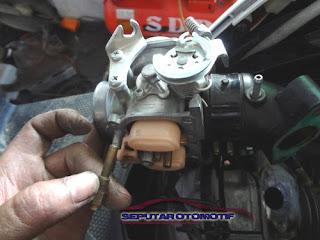 cara membersihkan karburator motor matic