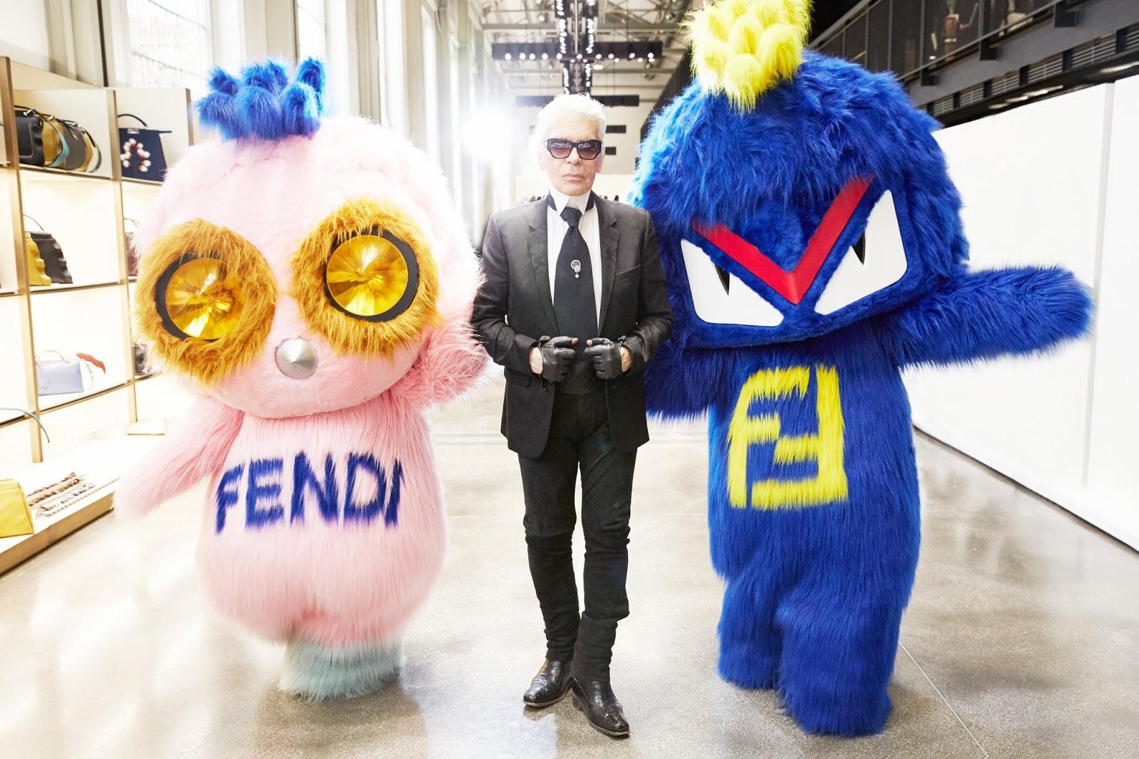 fendirumi-posing-with-Karl-Lagerfeld-fendi-FW16-show-MFW, fendi-dendirumi, fendirumi, dudessinauxpodiums, du-dessin-aux-podiums