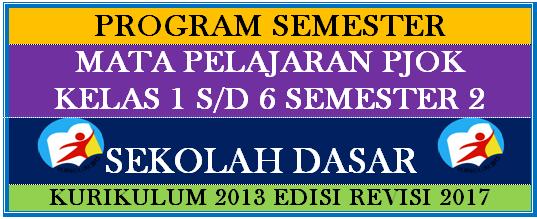 Program Semester PJOK Kurikulum 2013 Kelas 1 sampai 6 Semester 2