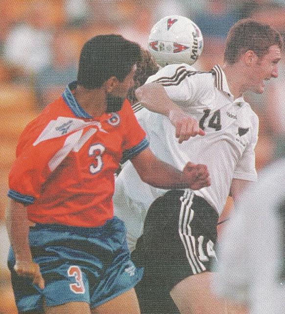 Nueva Zelanda y Chile en partido amistoso, 4 de febrero de 1998