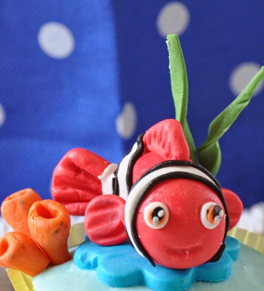 cake design Milano, corso cake design, le torte di Leda, cartone animato Nemo