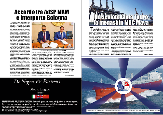 LUGLIO 2018 PAG 22 - Accordo tra AdSP MAM e Interporto Bologna