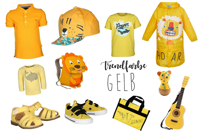 Trendfarben gelb Moodboard fuer Jungs Jules kleines Freudenhaus