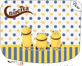 Etiqueta Nucita  para Imprimir Gratis de Minions Sexy.