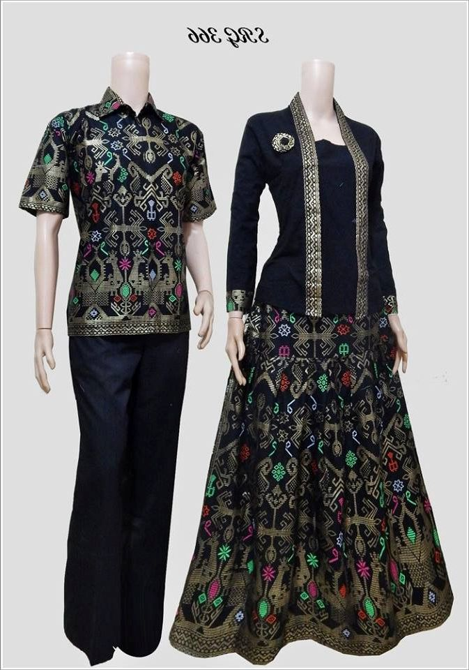 Model Baju Batik Muslim Couple Modern 2016 Busana Indonesia