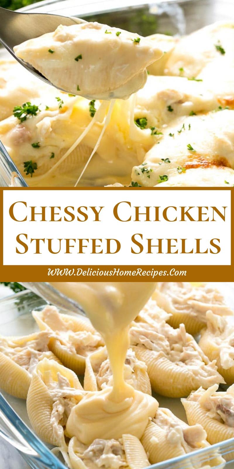 Chessy Chicken Stuffed Shells