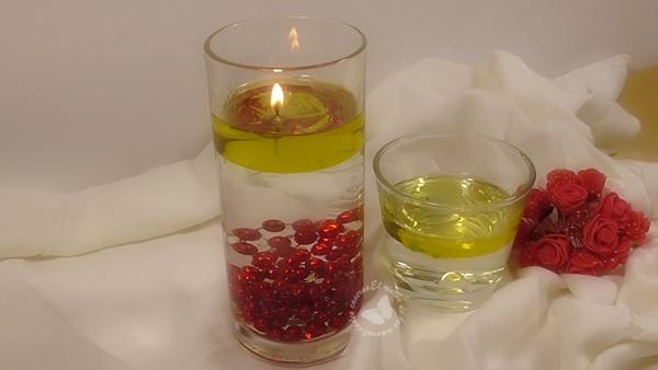 El rinc n de las manualidades caseras velas de aceite y agua - Velas de agua ...