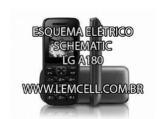 Esquema Elétrico Celular LG A180 Manual de Serviço  Service Manual schematic Diagram Cell Phone Smartphone Celular LG A180