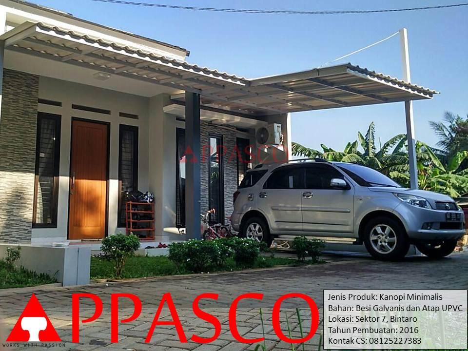 Kanopi Minimalis UPVC di Bintaro