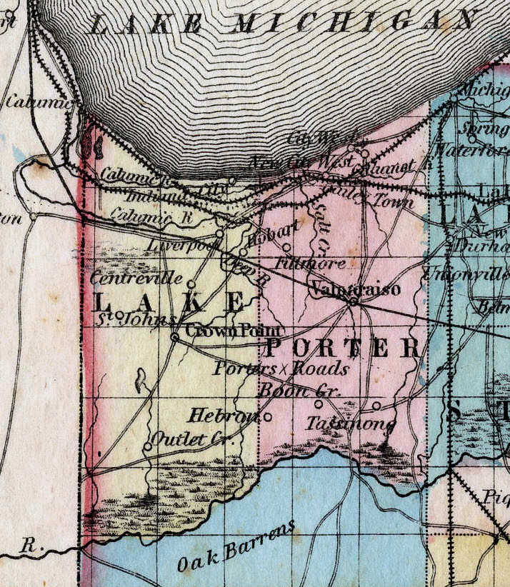Porter Indiana Map.Porter County S Past An Amateur Historian S Perspective Lost