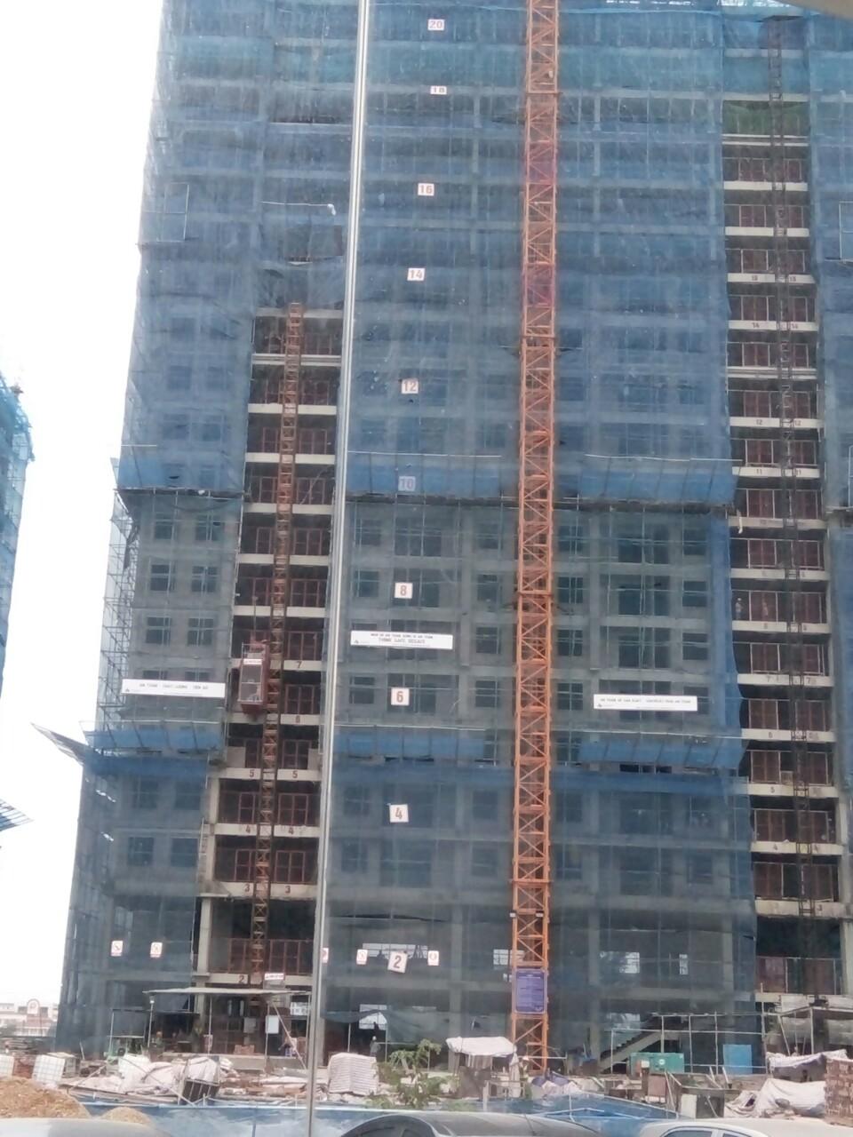 Tiến độ xây dựng tòa CT1A đã thi công tới tầng 22 chuẩn bị cất nóc