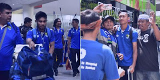 Tim Persib Bandung Disambut Bobotoh Medan
