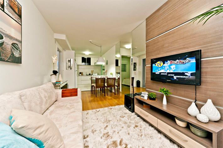 Apartamentos decorados pequenos e simples for Apartamentos decorados pequenos