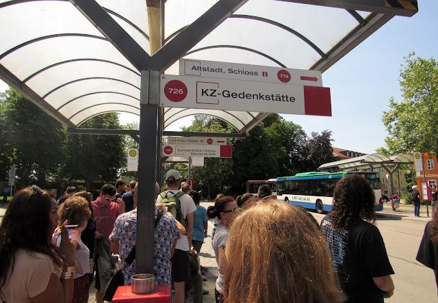 Ponto de ônibus em Dachau