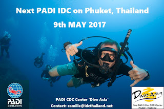Next PADI IDC on Phuket starts 9th May 2017