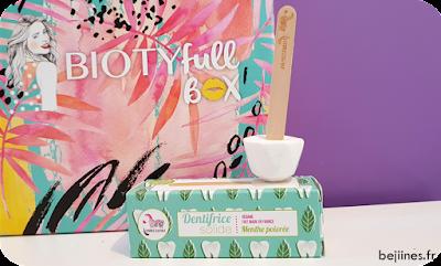 """BIOTYfull Box """"Routine Pré-Estivale"""" dentifrice lamazuna"""