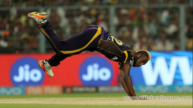 Andre Russell Filding Photos