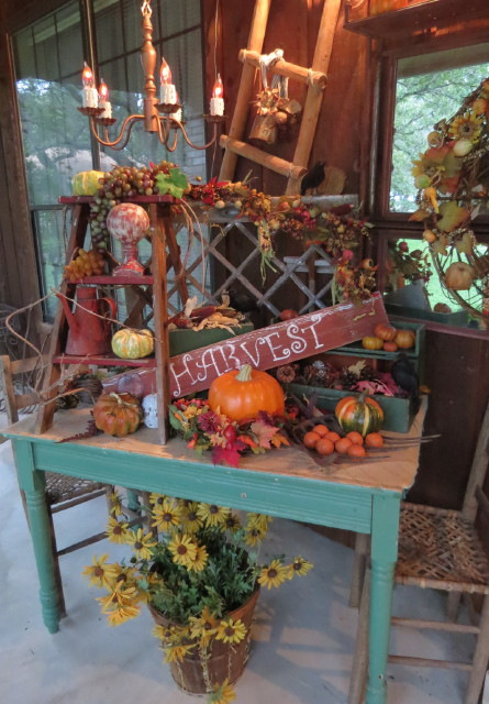 Decorating Around Harvest Gold Bathroom: Timeless Treasures: We Live In THE WOODS ... Come Visit