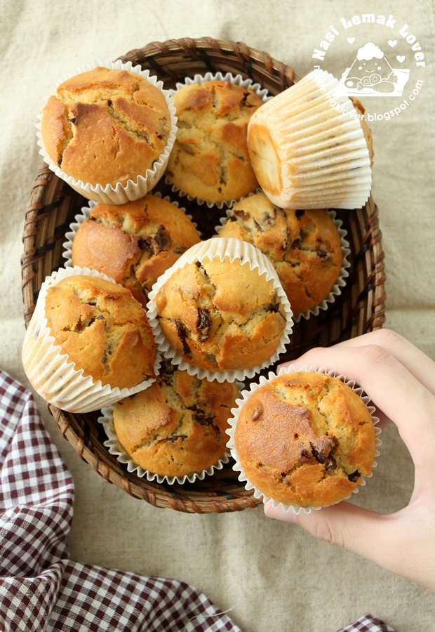 Longan and Walnut Muffin, bake with Panasonic Electric Oven NB-H3800SSK ??????