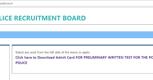 Constable In WBP Admit Card Dowmload And Preliminary Exam Date