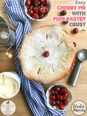 Cherry Pie with Puff Pastry Crust