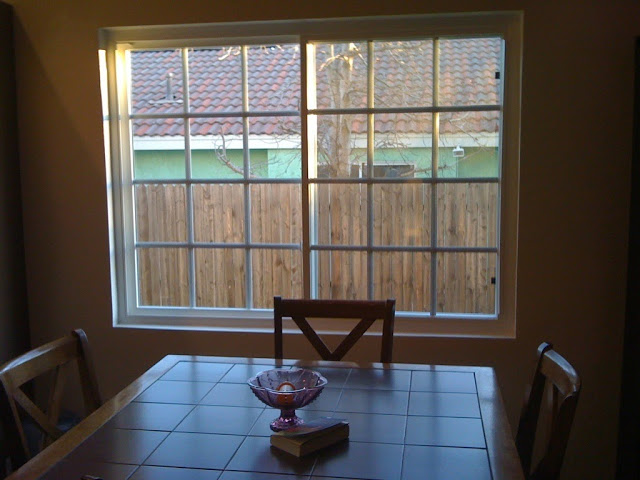 Adventures in DIY: Bamboo Roman Shades: Dining Room Update