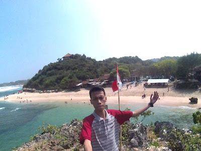 Pantai ngandong dari atas