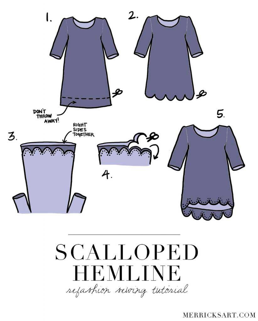 ondas, camisetas, bricomoda, refashion, costura