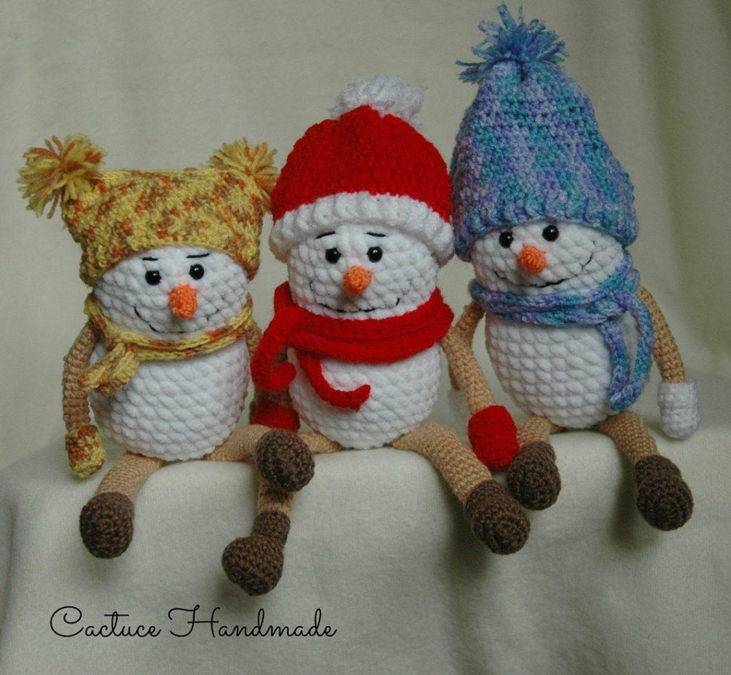 Вязаные снеговики: схема крючком | AmiguRoom