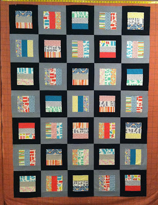 "Framed Logs - Jelly Roll Quilt, 2 1/2"" strips"