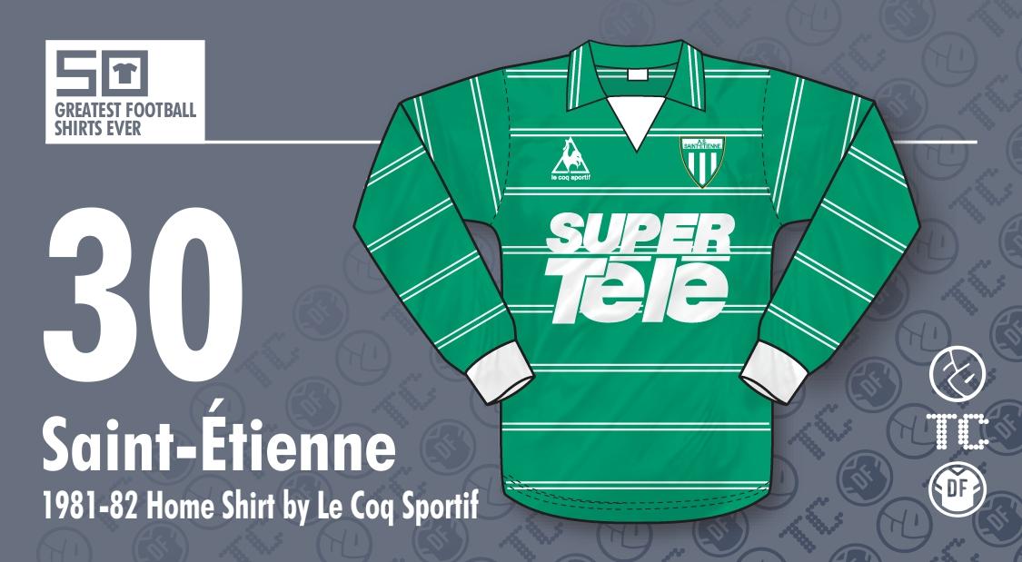 306ef59fa3 The 50 Greatest Football Shirts Ever: #30 - Saint-Étienne 1981-82 ...