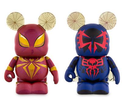 Spider-Man Vinylmation Iron Spider & Spider-Man 2099 Eachez Vinyl Figures by Disney x Marvel
