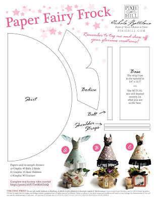 Paper Fairy Frocks with Tutorial - Nichola Battilana