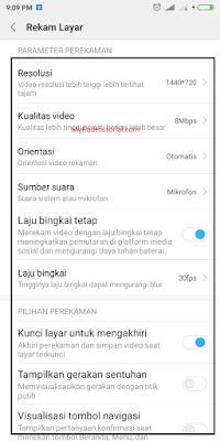 Cara Rekam Layar HP Xiaomi (MIUI 9) Tanpa Aplikasi
