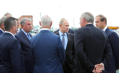 Russian President during a visit to Zvezda shipyard.