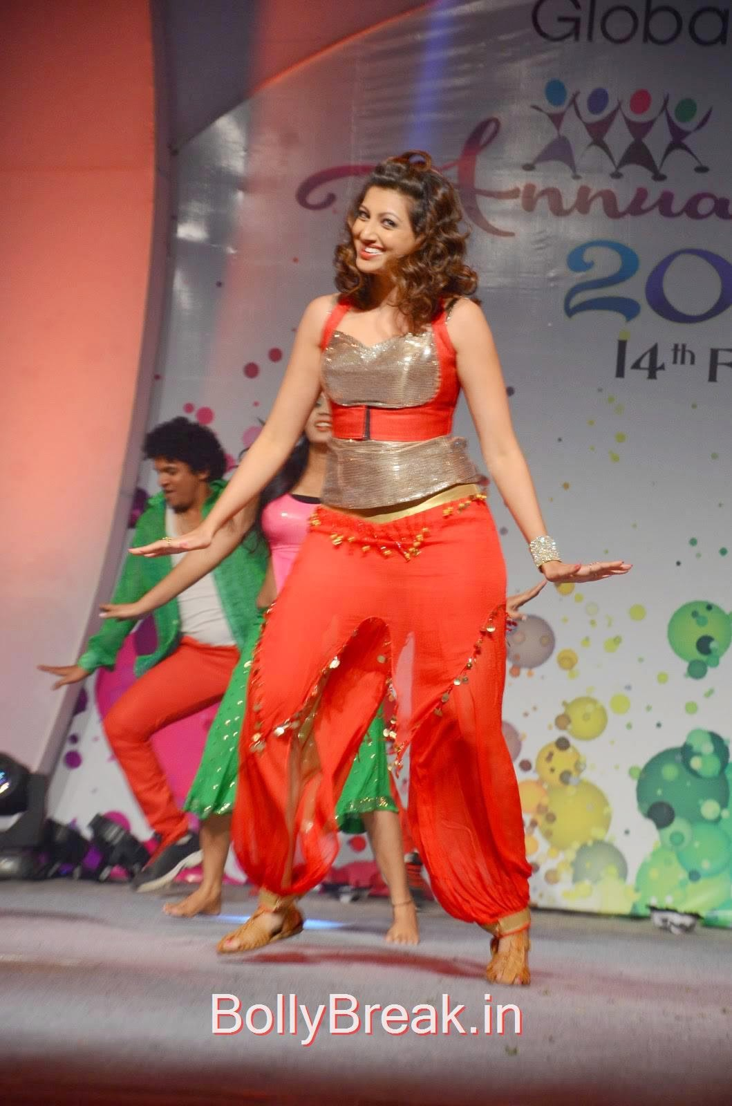 Hamsa Nandini Photoshoot Stills, Hamsa Nandini Hot Pics While Dancing in Red and Silver Dress