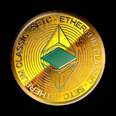 仮想通貨イーサリアム・クラシックのフリー素材(金貨ver)