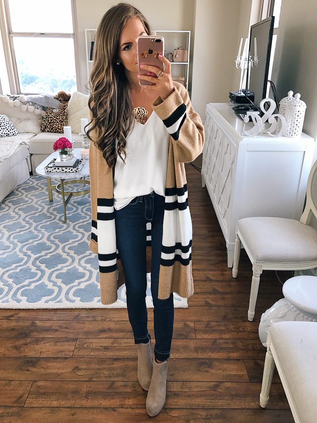 Topshop stripe colorblock cardigan