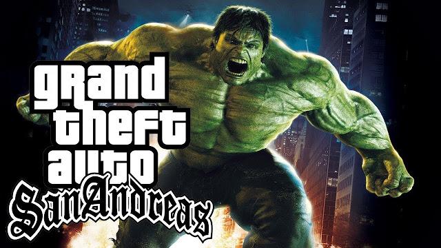 Free DOWNLOAD Hulk Mod FOR GTA San Andreas PC