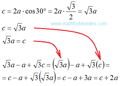 The perimeter of the triangle. Mathematics For Blondes.