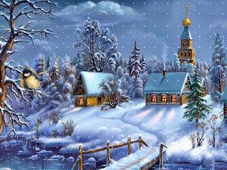 Božićne Slike, Čestitke, SMS: Božić i snijeg, zimska idila