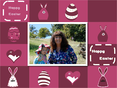 Easter Collage of YaYa and Granddaughter: LadyD Books