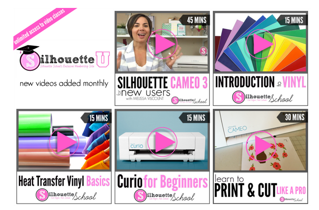 online silhouette video classes, online silhouette video tutorials, silhouette video courses
