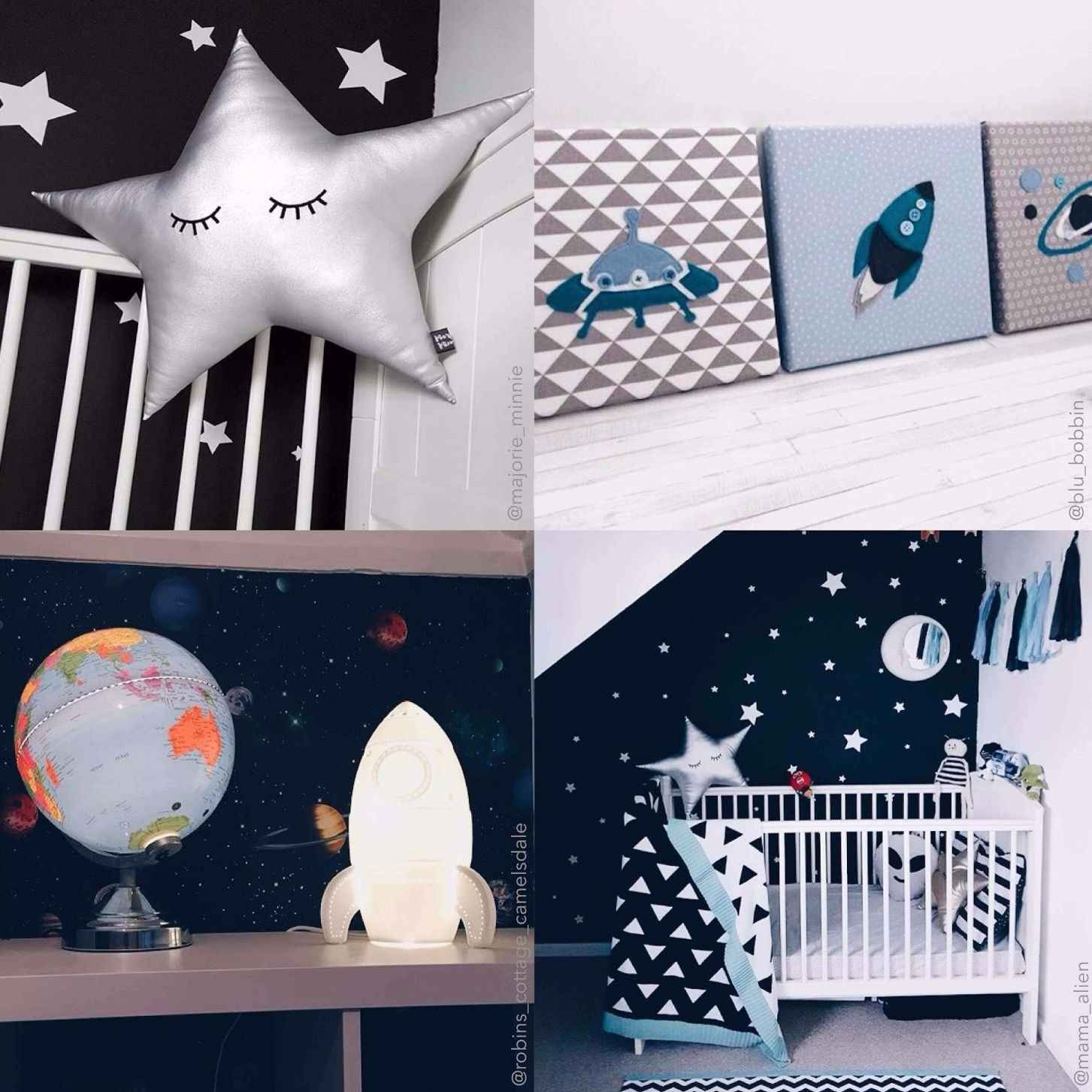 How to create a space themed bedroom for your little astronaut