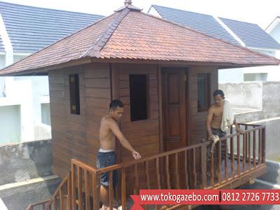 Gazebo Rumah Panggung Glugu Sirap
