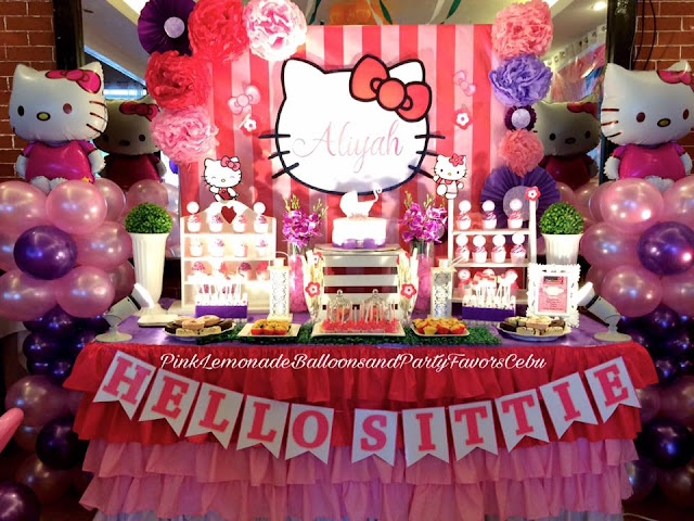 Hello Kitty themed Dessert Buffet set up