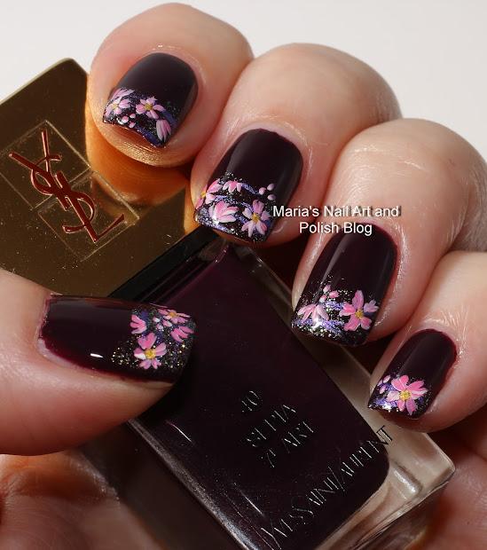 Marias Nail Art And Polish Sepia Floral French