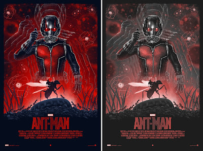 Marvel's Ant-Man Movie Poster Screen Print by Marko Manev x Grey Matter Art - Regular & Variant Editions