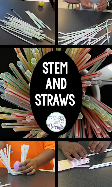 STEM Challenges using the simplest of materials: STRAWS! Check this blog post for more!